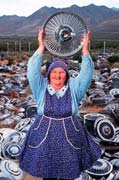Photo of  Lucy Pearson, hub cap queen